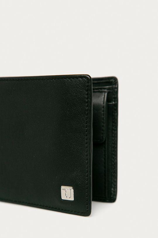 Trussardi Jeans - Kožená peňaženka čierna