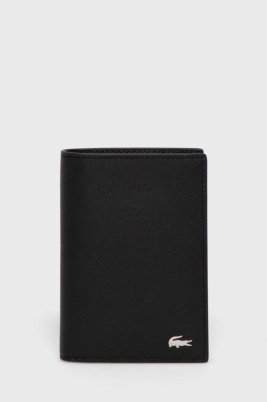 čierna Lacoste - Kožená peňaženka Pánsky