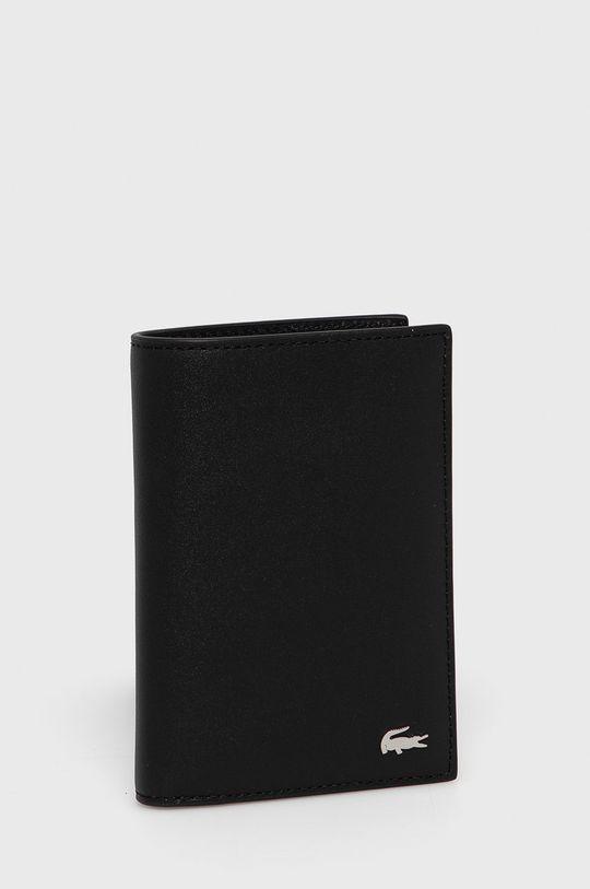 Lacoste - Kožená peňaženka čierna