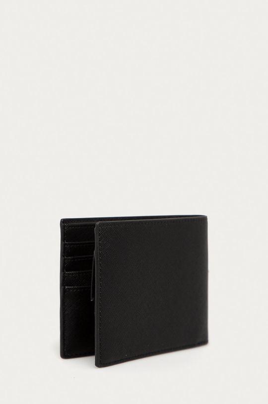 Emporio Armani - Portfel skórzany czarny