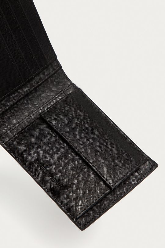 Emporio Armani - Portfel skórzany Materiał zasadniczy: 100 % Skóra naturalna, Inne materiały: 53 % Poliamid, 47 % Poliester