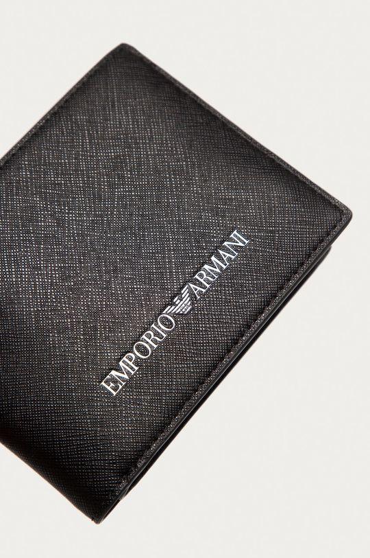 czarny Emporio Armani - Portfel skórzany