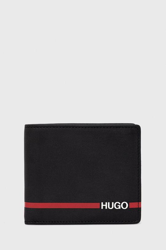czarny Hugo - Portfel skórzany Męski