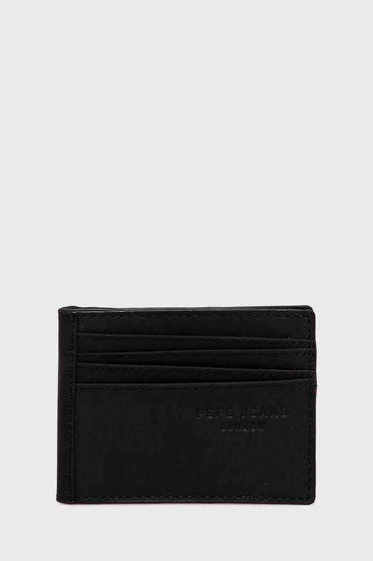 czarny Pepe Jeans - Portfel skórzany Credit Card Wallet Męski