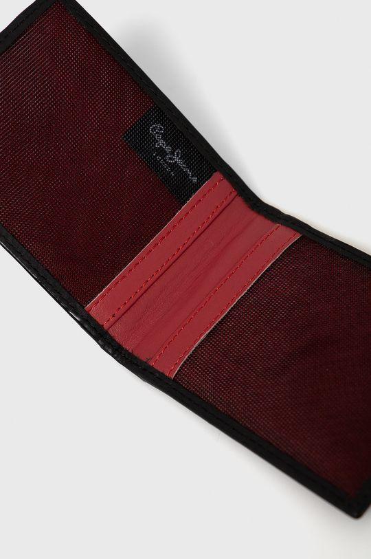 Pepe Jeans - Portfel skórzany Credit Card Wallet czarny