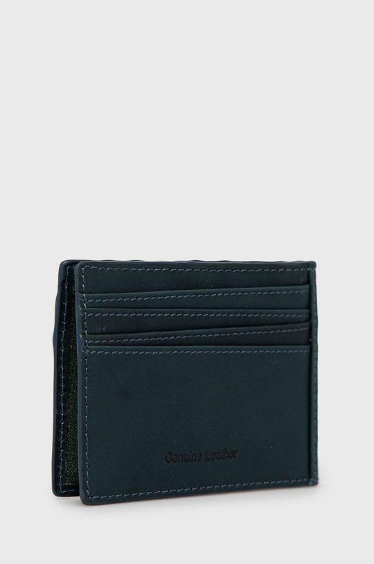 Pepe Jeans - Kožená peňaženka tmavomodrá