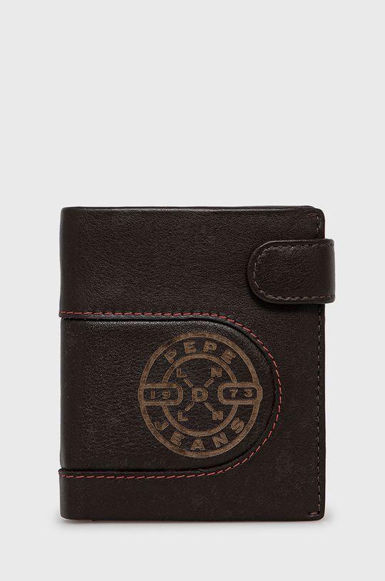 hnedá Pepe Jeans - Kožená peňaženka Pánsky
