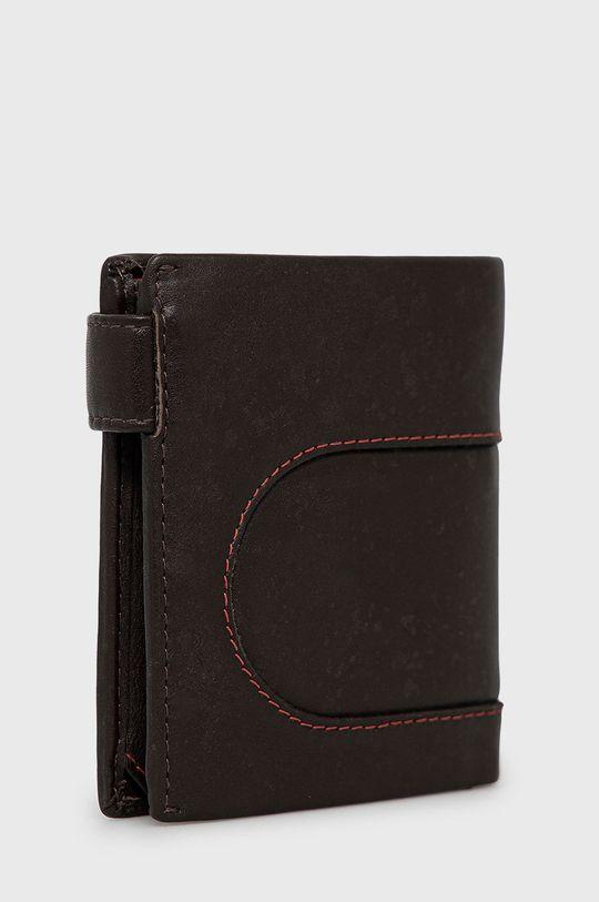 Pepe Jeans - Kožená peňaženka hnedá