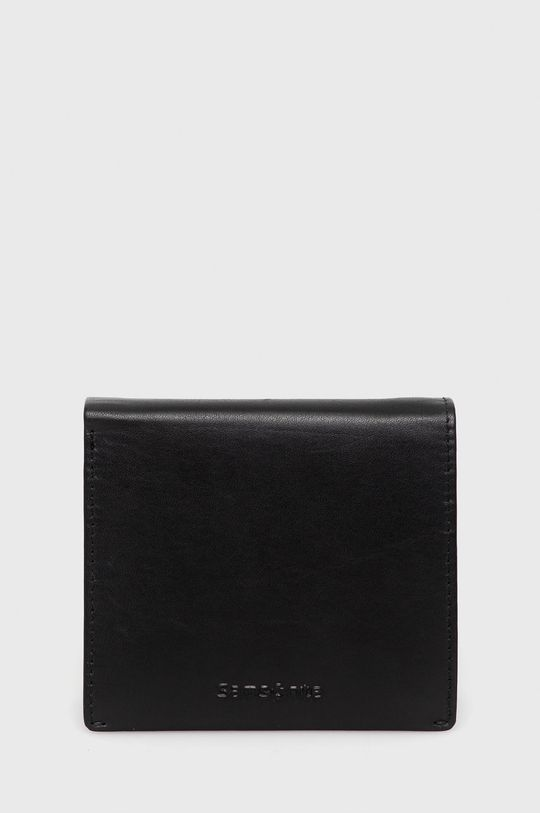 czarny Samsonite - Portfel skórzany Męski