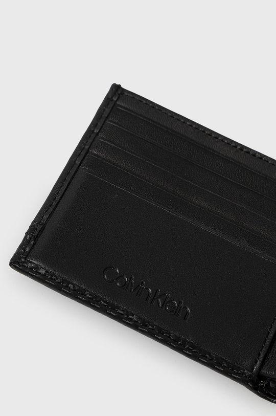 Calvin Klein - Bőr pénztárca fekete