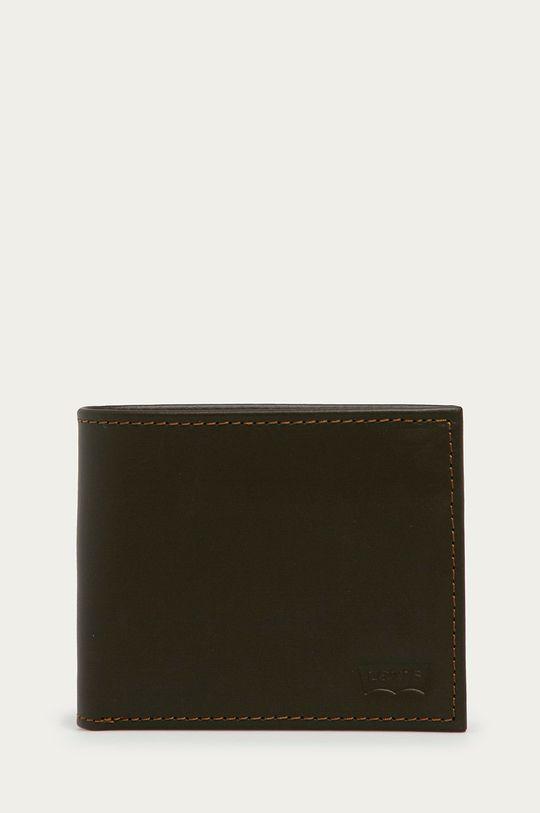 tmavohnedá Levi's - Kožená peňaženka Unisex