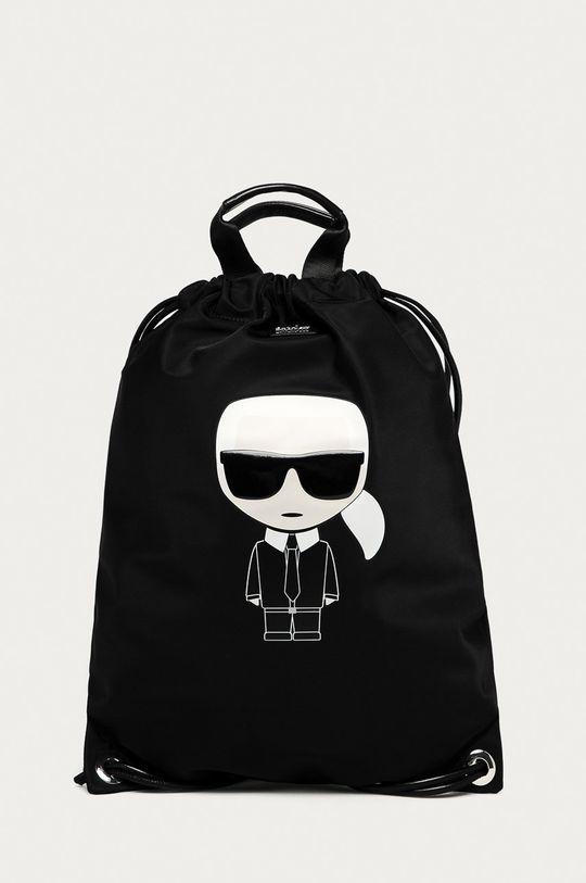 czarny Karl Lagerfeld - Plecak Męski