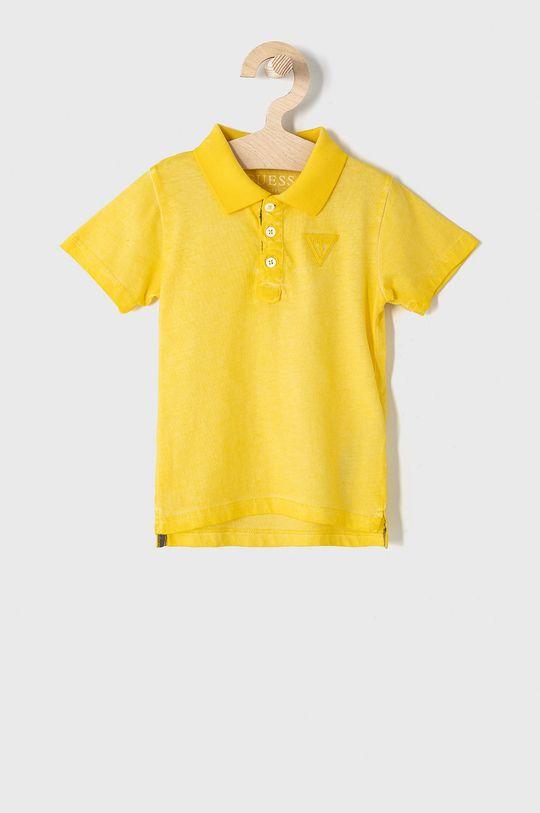 žltá Guess - Detské polo tričko 92-122 cm Chlapčenský