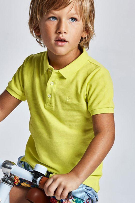 žltá Mayoral - Detské polo tričko Chlapčenský