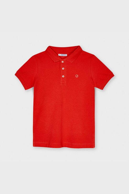 sýtočervená Mayoral - Detské polo tričko Chlapčenský