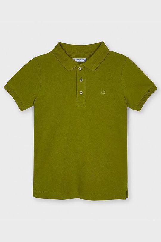 olivová Mayoral - Detské polo tričko Chlapčenský