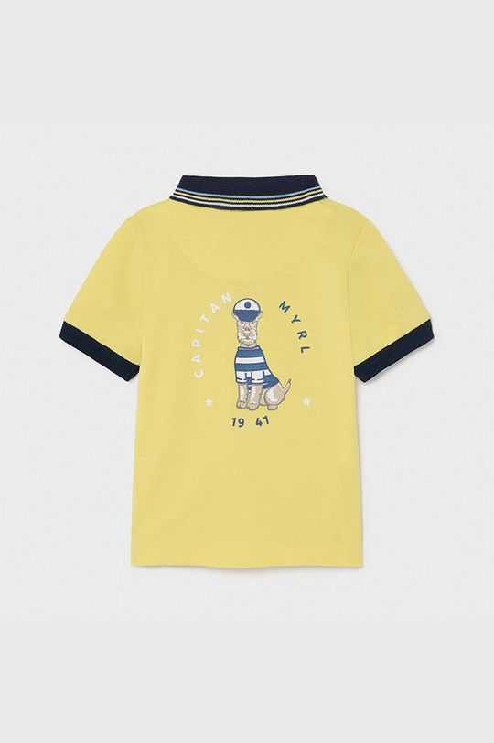 Mayoral - Detské polo tričko horčicová