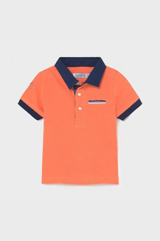 Mayoral - Detské polo tričko broskyňová