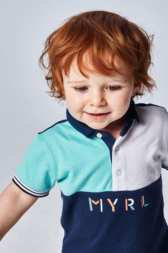Mayoral - Detské polo tričko svetlá tyrkysová