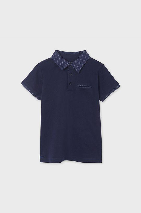 Mayoral - Tricou polo copii bleumarin