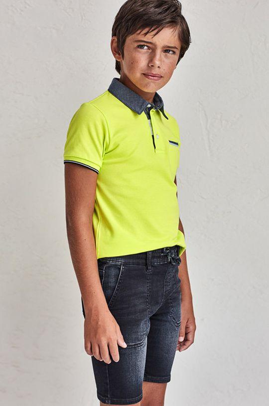 žlto-zelená Mayoral - Detské polo tričko 128-172 cm Chlapčenský