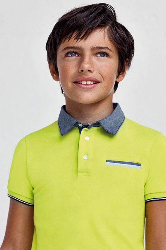 Mayoral - Detské polo tričko 128-172 cm žlto-zelená