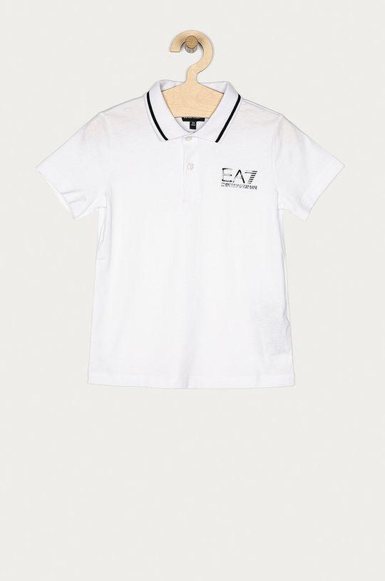 biela EA7 Emporio Armani - Detské polo tričko 104-164 cm Chlapčenský