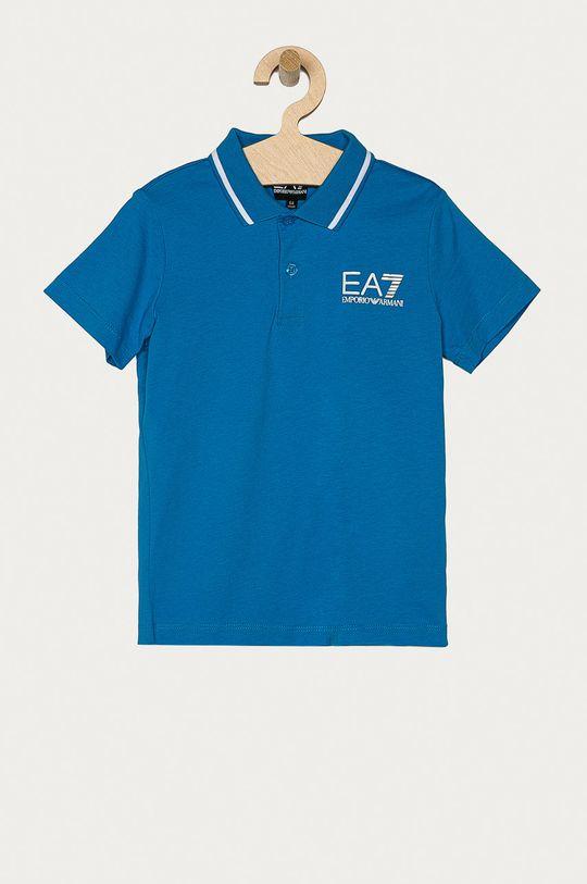 modrá EA7 Emporio Armani - Detské polo tričko 104-164 cm Chlapčenský