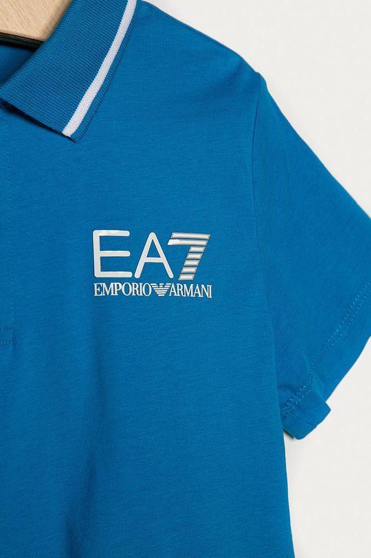 EA7 Emporio Armani - Detské polo tričko 104-164 cm modrá