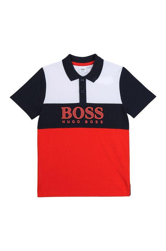 červená Boss - Detské polo tričko Chlapčenský