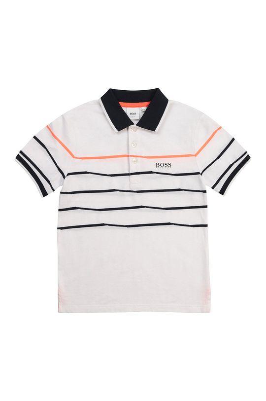 biały Boss - Polo dziecięce Chłopięcy