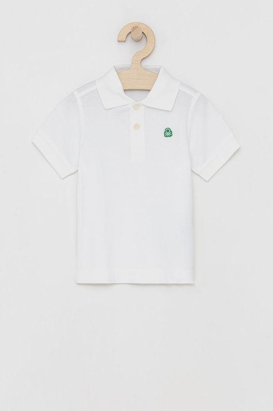 bílá United Colors of Benetton - Dětské polo tričko Chlapecký