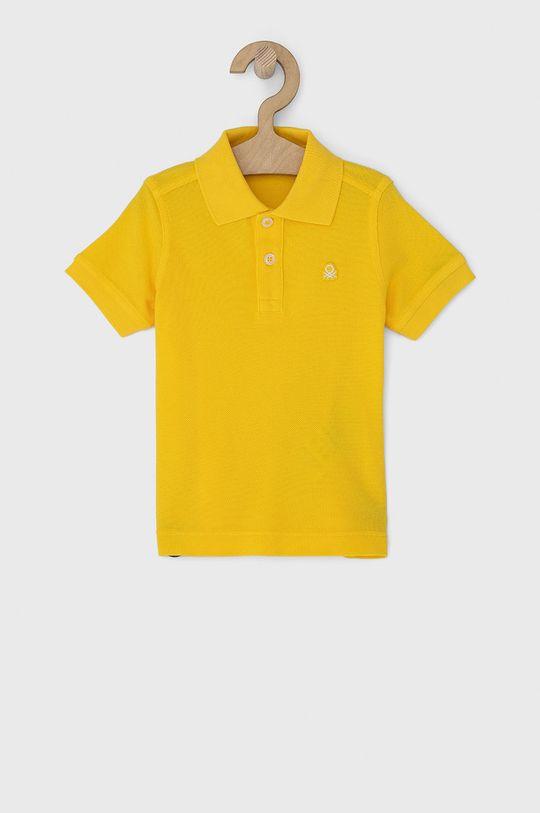 żółty United Colors of Benetton - Polo dziecięce Chłopięcy