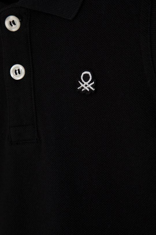 United Colors of Benetton - Dětské polo tričko černá