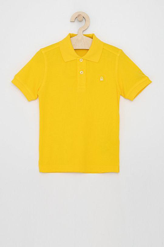 žlutá United Colors of Benetton - Dětské polo tričko Chlapecký
