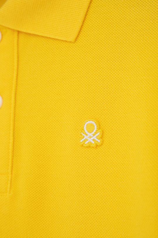 United Colors of Benetton - Dětské polo tričko žlutá