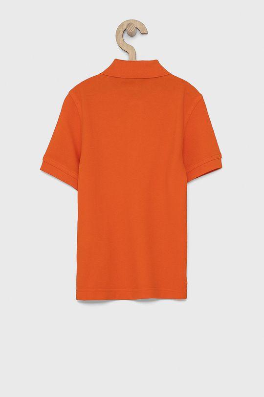 United Colors of Benetton - Dětské polo tričko mandarinková