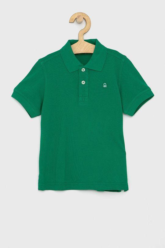 zelená United Colors of Benetton - Dětské polo tričko Chlapecký