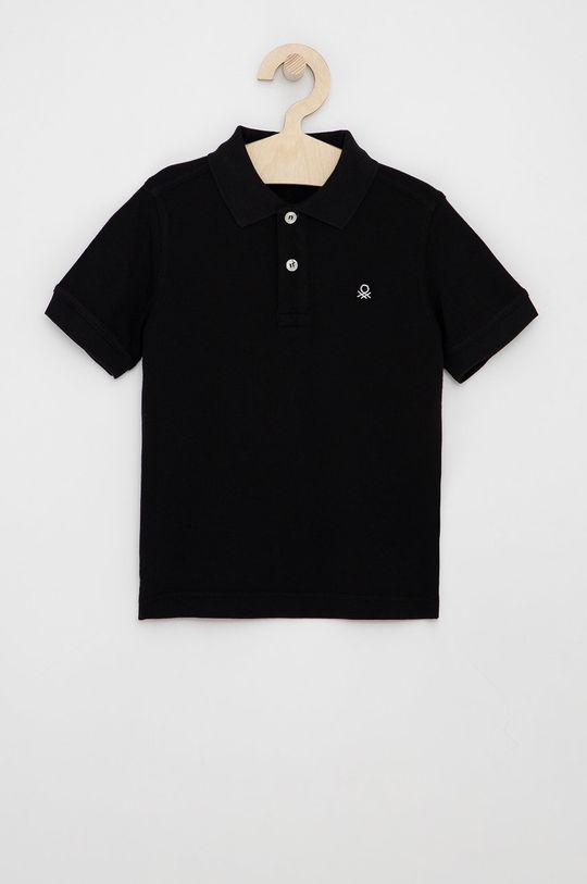 černá United Colors of Benetton - Dětské polo tričko Chlapecký