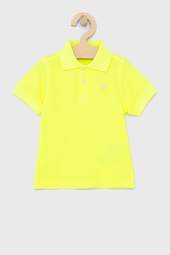 jasně žlutá United Colors of Benetton - Dětské polo tričko Chlapecký