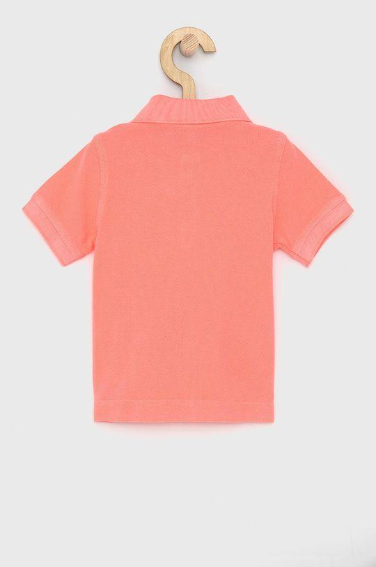United Colors of Benetton - Dětské polo tričko ostrá růžová