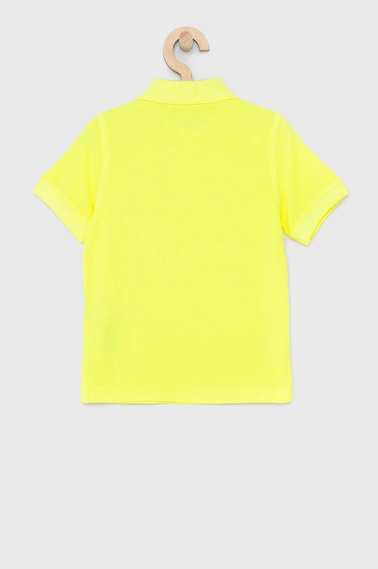 United Colors of Benetton - Dětské polo tričko jasně žlutá