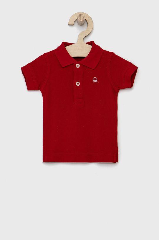 červená United Colors of Benetton - Dětské polo tričko Chlapecký