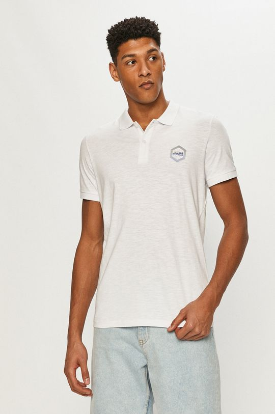 bílá Jack & Jones - Polo tričko Pánský