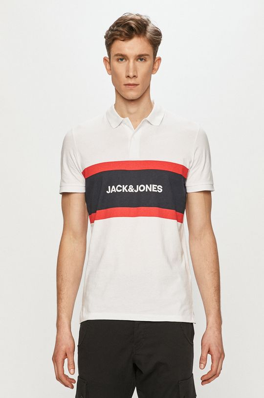 biela Jack & Jones - Polo tričko Pánsky