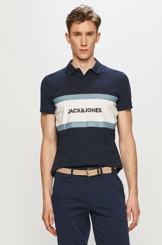 tmavomodrá Jack & Jones - Polo tričko Pánsky