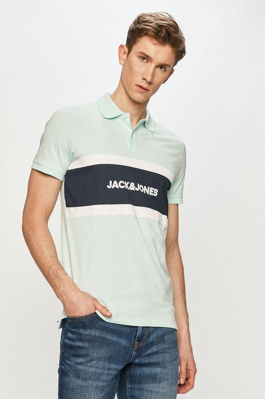 svetlá tyrkysová Jack & Jones - Polo tričko Pánsky