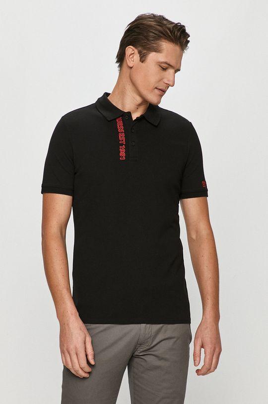 černá Guess - Polo tričko Pánský
