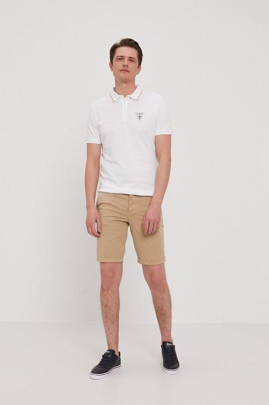 Guess - Polo tričko bílá