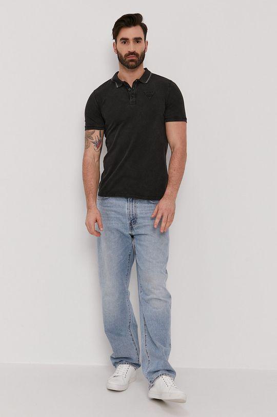 Guess - Polo tričko černá